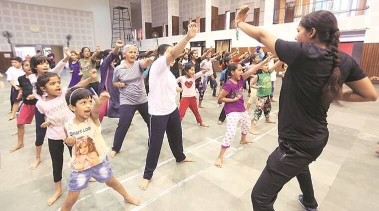 Chandigarh: From 8-year-olds to grandmas, everyone is in action in class