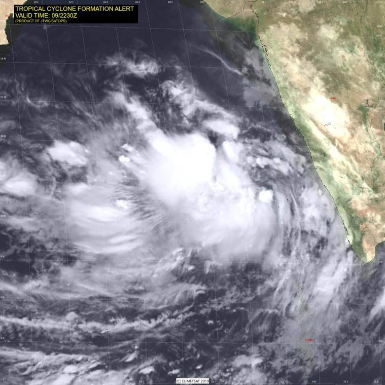 Cyclone 'Vayu' intensifies into severe cyclonic storm