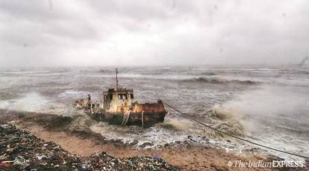 Cyclone Vayu, Cyclone Vayu gujarat, Cyclone Vayu news, weather news, india news, india cyclone news,Cyclone Vayu update, Cyclone Vayu gujarat date, Cyclone Vayu india date, Gujarat weather, weather news, gujarat weather news, weather news, weather news gujarat, gujarat cyclone news, indian express,