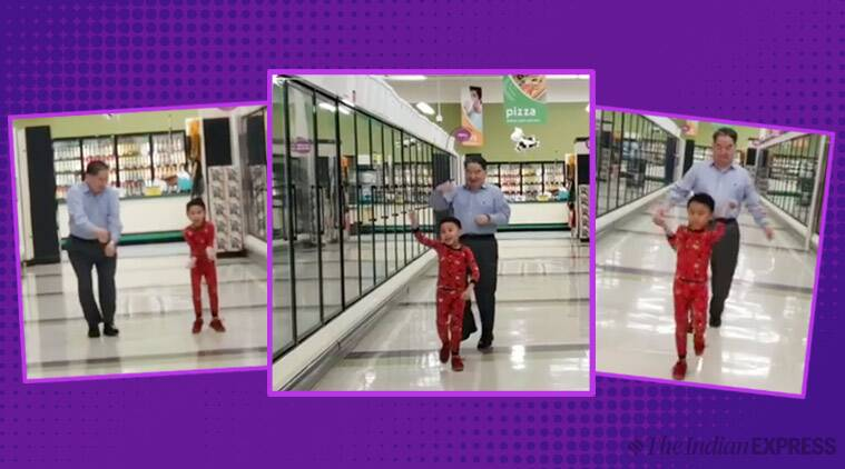 The green Bay,USA grocery store dance, Grandson, Grandfather dance,little boy dance, Grandson Grandfather dance, The grocery store dance, Kyu dance,Indian Express