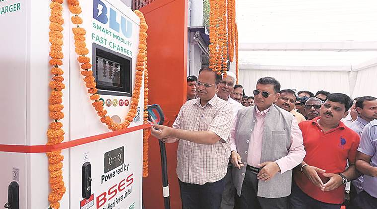 Delhi gets first e-charging station, 50 more in a year