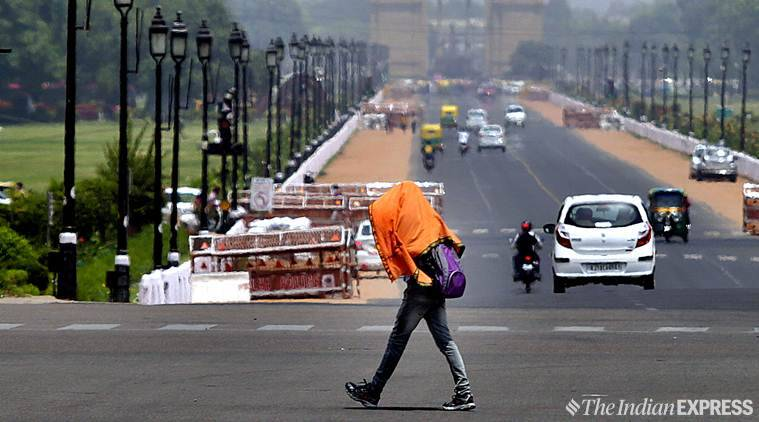 delhi weather, delhi heat, delhi weather news, delhi heat wave, delhi temperature, delhi summer, delhi red alert, north india, temperature, heat wave, humidity, delhi news, indian express