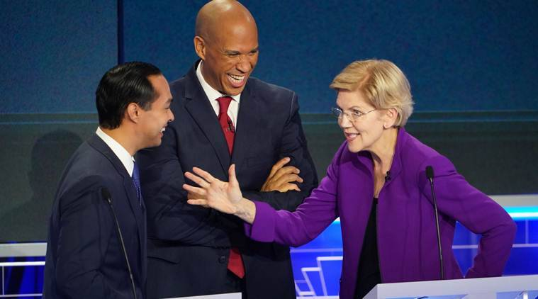 Democratic presidential candidates denounce inequality in first debate, but diverge over how to fix it