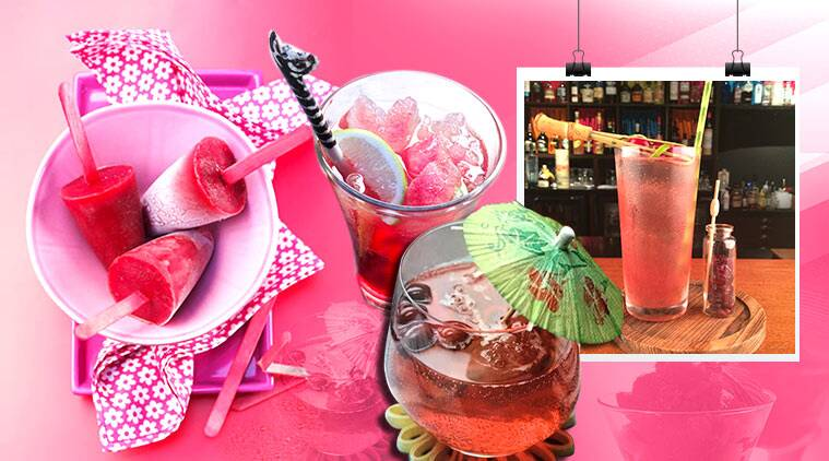 summer, summer drinks, cranberry popsicles, cranberry sorbet
