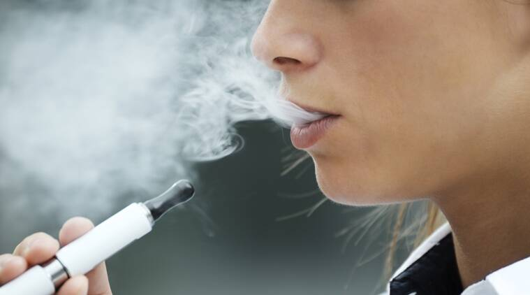e-cigarette, vaping, smoking indian express, Nicotine in e-cigarettes, indian express health, indian express news