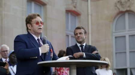 Elton John Emmanuel Macron