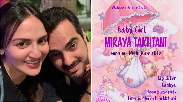 esha deol blessed with a daughter