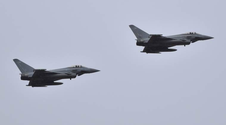 Two Eurofighters crash over eastern Germany, one pilot yet to be located