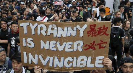 Protesters formed a sea of black along roads, walkways and train stations across Hong Kong's financial centre to vent their frustration and anger at the bill and the government's handling of the resulting demonstrations.