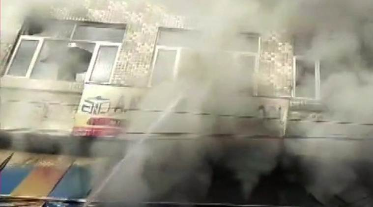 Three including two children dies in fire at a school in Faridabad