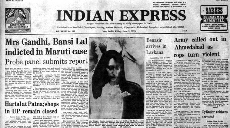 Indira gandhi, sanjay agndhi, Bansi ali, indira gandhi indicted, indian army, bsf, public works department, benazir bhutto, pakistan prime minister, long live bhutto, forty years ago, indian express
