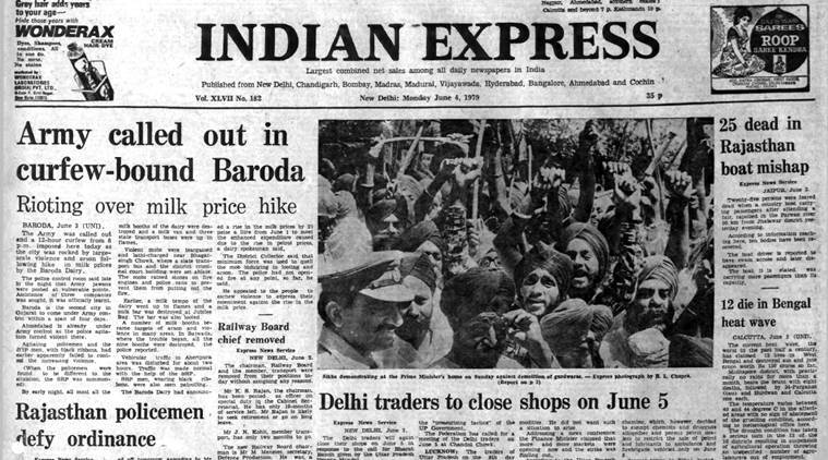Forty years ago june 4 1979 army in baroda