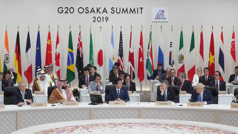 G20 Summit, G20 summit highlights, G20 summit meetings, Paris agreement, climate change, US China trade talks, Osaka Summit, Narendra Modi, US President, Xi Jinping, China, World news, Indian Express