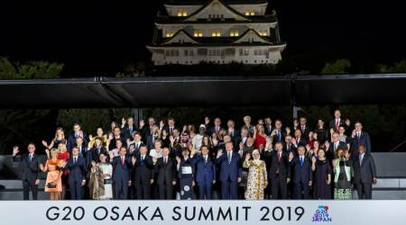 G20, G20 summit, G20 summit climate talks, G20 summit climate resolution, g20 Summit Osaka, Shinzo Abe, paris climate accord, paris climate agreement, Indian Express, World news