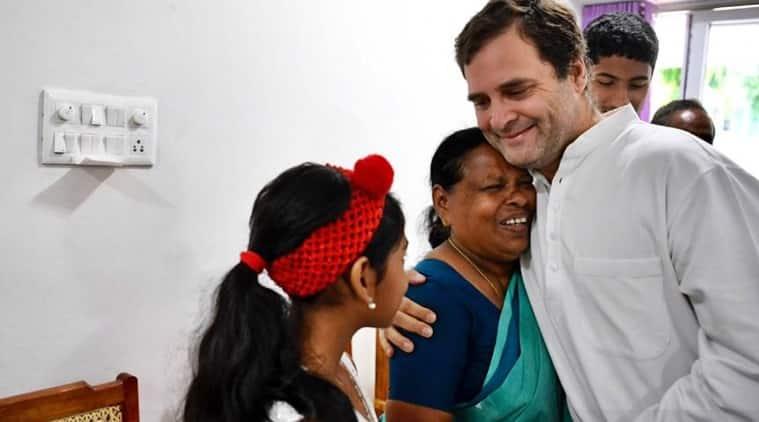 At Wayanad, Rahul Gandhi meets nurse who held him after birth