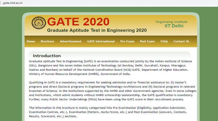 gate, GATE 2020, gate.iitd.ac.in, IIT delhi, gate score, GATE website, gate exam date, GATE score, GATE exam pattern, education news