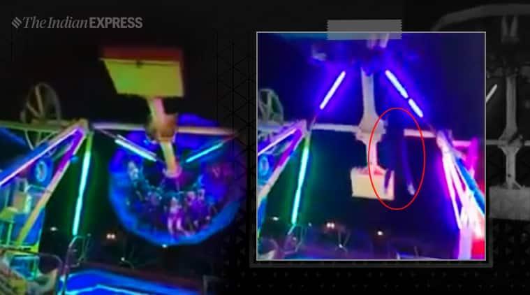 mexico ride, Girl Falls From Amusement Park Ride, girl falls ride viral video, mexico ride viral video, fairground, Ciudad Juarez, trending, viral video, indian express, indian express news