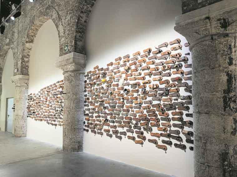 GR Iranna; Wounded Tools, Venice Biennale, artist GR Iranna's studio, artists Nandalal Bose