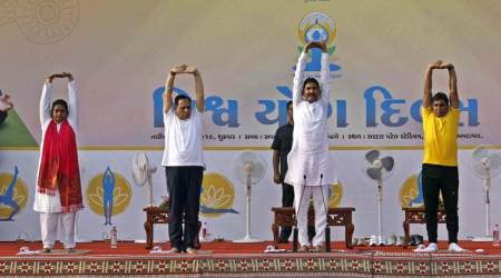 Yoga, Yoga day, Gujarat, Gujarat news, Gujarat Yoga day, Yoga Gujarat, Gujarat Yoga promotion, Vijay Rupani Yoga, Yoga Vijay Rupani, Indian Express
