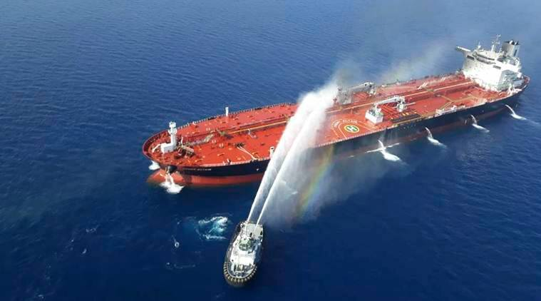 US, Iran, Iran US tanker, oil tanker US, US oil tanker, Iran US oil tanker, Mike Pompeo Iran, Donald Trump Iran, US Iran conflict explained, Gulf of Oman explained, US Iran, Iran US, US iran Gulf conflict, Strait of Hormuz, Gulf of Oman, US Iran mine video, Iran US mine video, world news, Indian Express, latest news