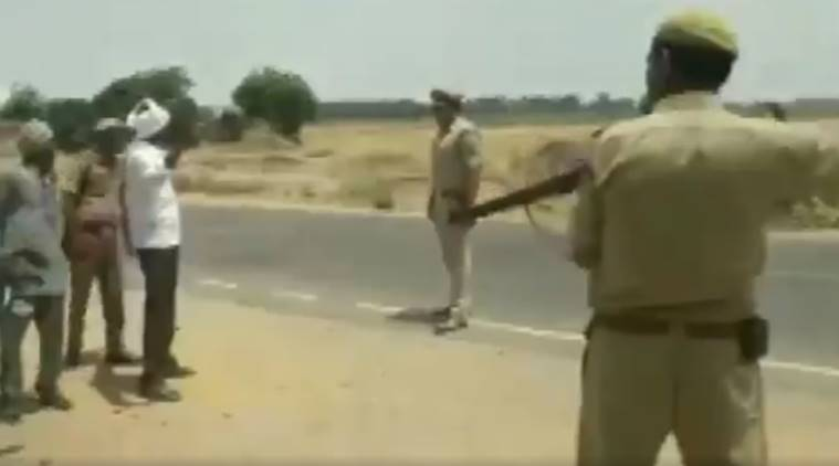 WATCH: UP Police frisk people at gunpoint in Badaun, say 'tactical technique' to avoid casualties