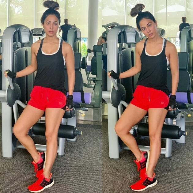 hina khan gym photos