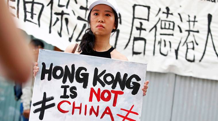 Hong Kong, Hong Kong protest, Hong Kong extradition law, extradition law Hong Kong, Hong Kong news, Indian Express, latest news