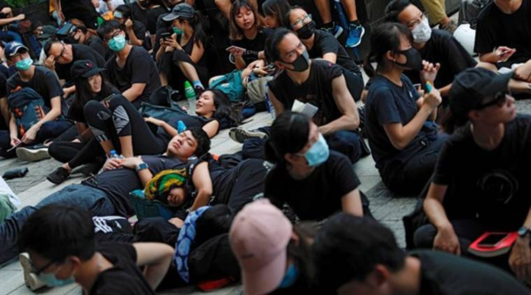 Hong Kong protest, Hong Kong rallies, Carrie Lam, extradition bill  protest, China extradition bill, World News, Indian Express, Latest news