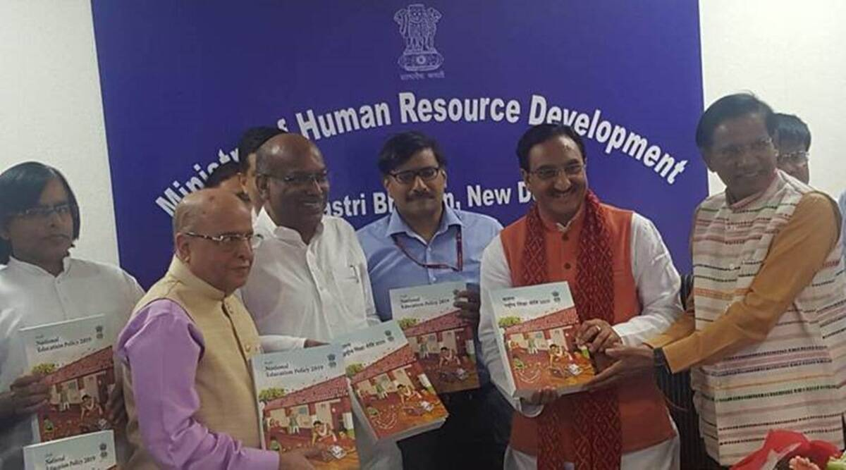 NEP, national economic policy, HRD minister, Nishank, education news