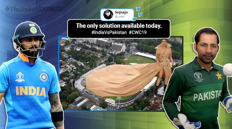 india vs pakistan, icc world cup 2019, cricket world cup, ind vs pak cwc, 2019 world cup rain, manchester weather, ind vs pak match weather forecast, cwc rain memes, ind pak match memes, sports news, cricket news, indian express