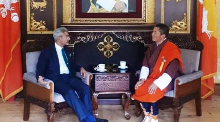 jaishankar, s jaishankar, foreign minister s jaishankar, external affairs minister s jaishankar, external affairs minister jaishankar, bhutan prime minister, Lotay Tshering, bhutan prime minister Lotay Tshering, bhutan foreign minister, Tandi Dorji, india news, Indian Express