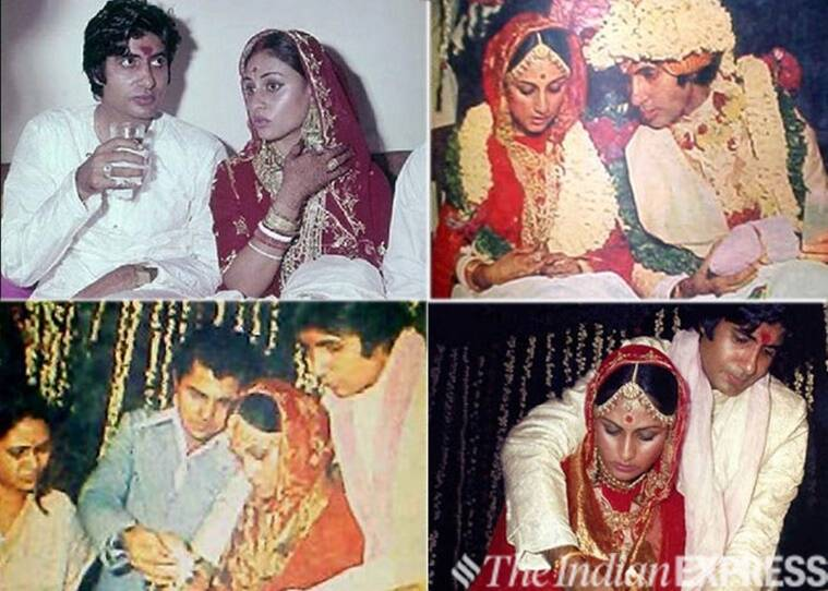 Amitabh Jaya wedding photo indian express archive