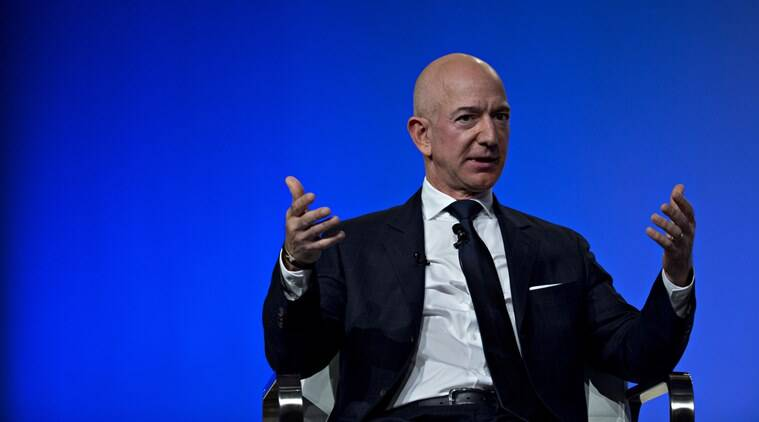 Amazon, Amazon jeff bezos, Amazon CEO, Amazon CEO Jeff Bezo, Priya Sawhney, Amazon CEO stage talk, jeff bezos, priya sawhney, indian american activist priya sawhney, priya sawhney jeff bezos, interrupted jeff bezos, jeff bezos interrupted, lady yelled at jeff bezos, yelled jeff bezos, re:MARS, new york, world news, latest news, indian express news