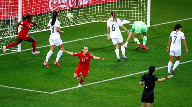 FIFA Women's World Cup 2019, women's world cup results, canada vs new zealand, Jessie Fleming, Nichelle Prince, football world cup, football news, soccer news, sports news, indian express
