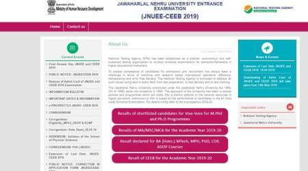 jnu, jnu entrance exam result, jnu entrance exam result 2019, jnuee result, jnuee result 2019, jnuee result 2019