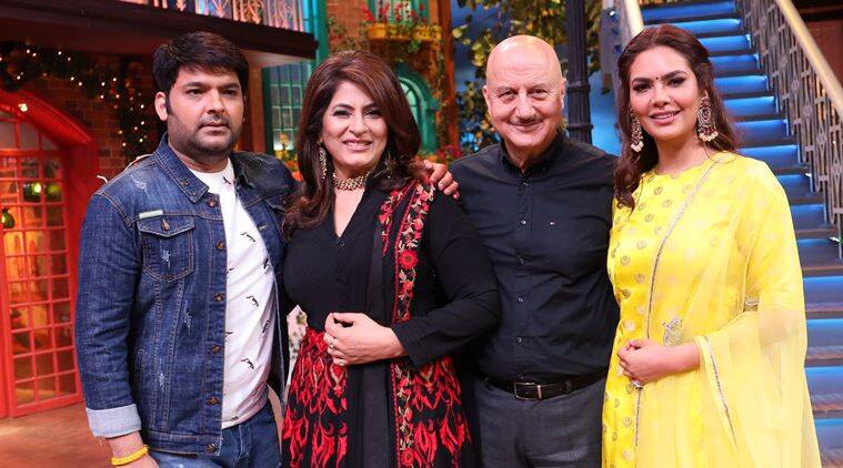 Anupam Kher and Esha Gupta kapil sharma show