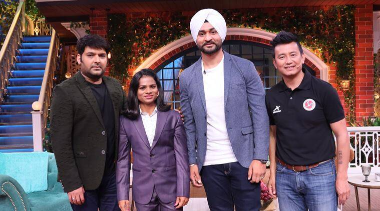 Bhaichung Bhutia, Dutee Chand and Sandeep Singh on kapil sharma show