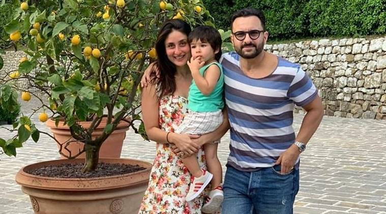 saif ali khan, kareena kapoor, taimur, spending family time