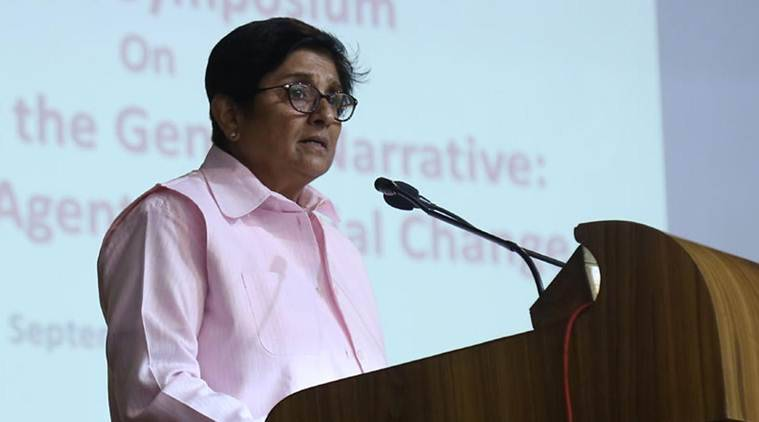 Ram mandir, RSS, School students re enact Babri Masjid demolition, Karnataka, ram mandir dispute, Sri Rama Vidyakendra High School, Puducherry Governor Kiran Bedi, bengaluru news, Bangalore news, indian express