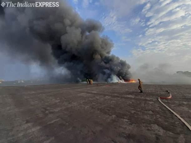 Fire near Howrah Bridge in Kolkata