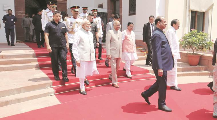 ram nath kovind, ram nath kovind parliament, president ram nath kovind, president, ram nath kovind parliament, parliament session, national security, triple talaq, water conservation, parliamnet session 2019, indian express