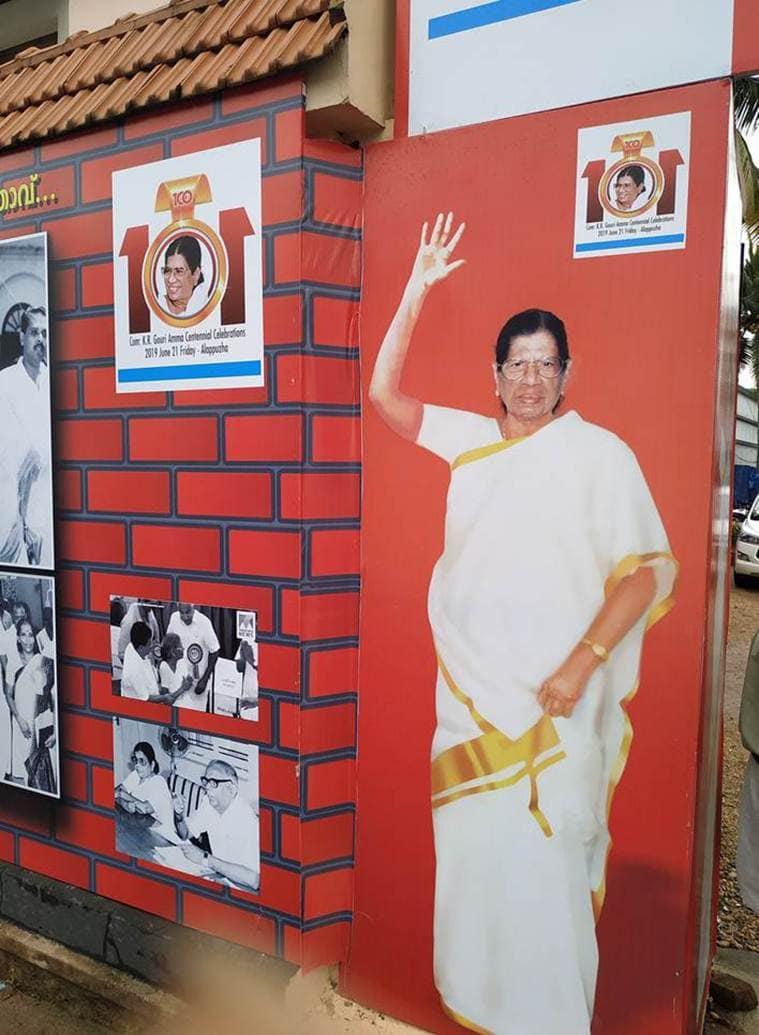 KR Gowri Amma, Gowri Amma birthday, Gowri Amma 100th birthday, Gowri Amma kerala, Gowri Amma communist, indian express news