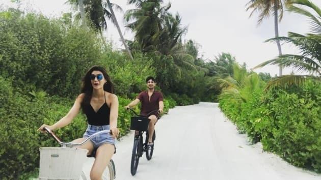 kriti sanon in maldives