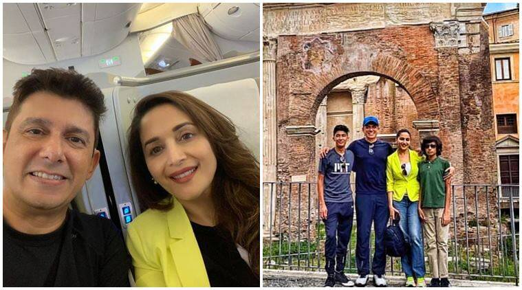 Madhuri Dixit rome vacation