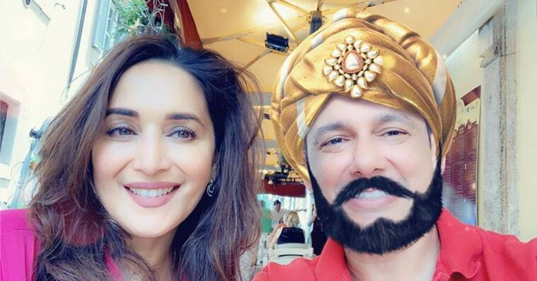 madhuri dixit photo with husband