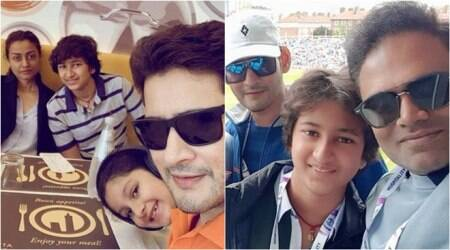 mahesh babu celebrates maharshi with family in London