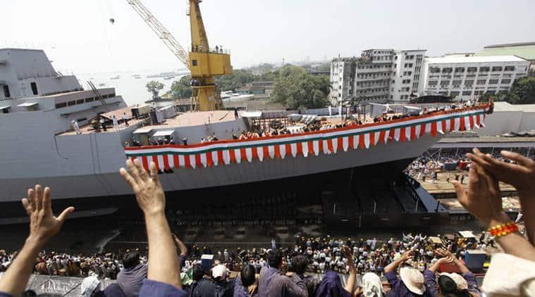 Mazgaon docks, fire at navy ship, fire at Mazagaon Dockyard, Indian Navy, Marmugao ship, INS Visakhapatnam, INS Mazagaon Dockyard, navy ship, mumbai news, Indian Express