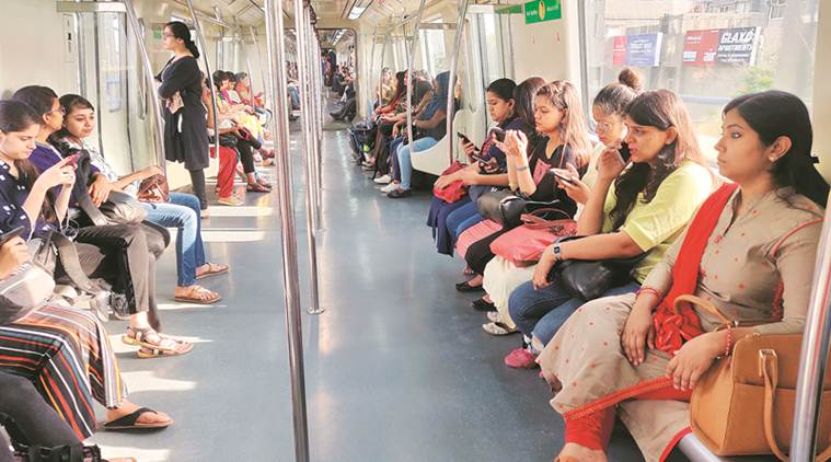 Mind the gap: Women in Delhi Metro on the move | India News, The