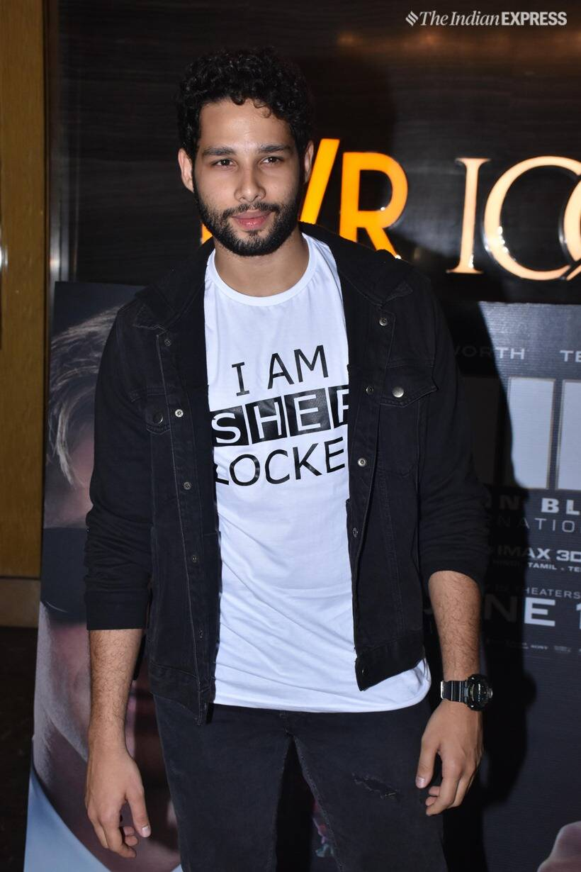 Siddhant Chaturvedi MIB international screening