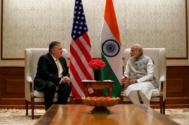 mike pompeo, us secretary of state, us secretary of state mike pompeo, narendra modi, prime minister narendra modi, pm modi mike pompeo, s jaishankar, external affairs minister, india news, Indian Express